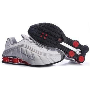 104265 057 Nike Shox R4 White Red J09110