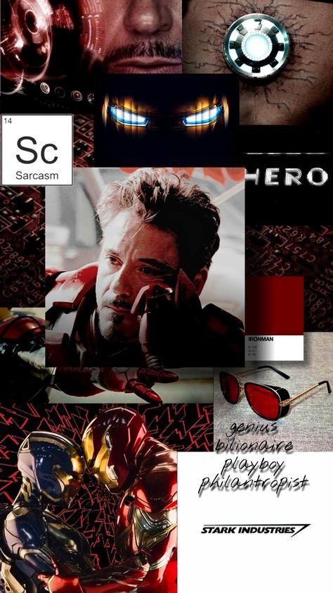 tony stark wallpaper aesthetic red