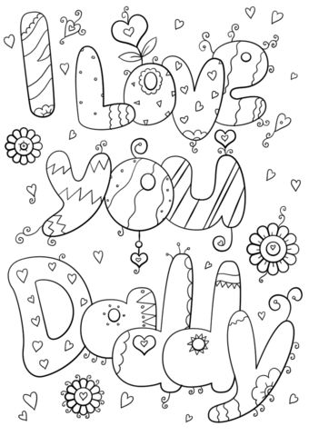 I Love You Daddy Coloring Page Free Printable Coloring Pages Di 2020