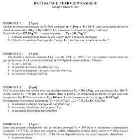 Exercices Corriges En Thermodynamique Thermodynamique Exercice Lecture De Plan