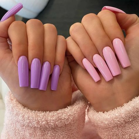 kylie jenner pink purple acrylic nails Many women prefer to attend the hairdresser even though they cannot have time to … Long Square Acrylic Nails, Bright Summer Acrylic Nails, Purple Acrylic Nails, Remove Acrylic Nails, Acrylic Nails Coffin Short, Purple Nails, Glitter Nails, Summer Nails, Purple And Pink Nails