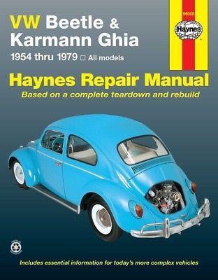 Repair Manual Base Haynes 96008 Repair Manuals Karmann Ghia Vw Beetles
