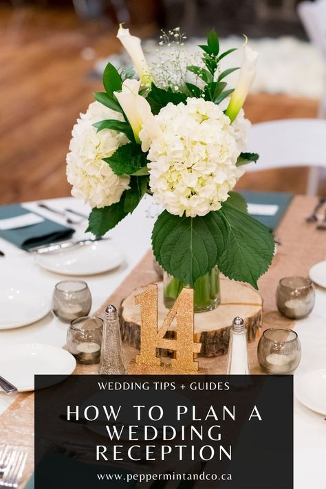 Celebrate the night! How to Plan a Wedding Reception. From guest arrivals, to the end of the wedding, as well as activities and entertainment, this guide has tips to help you out! #weddingreception #weddingreceptionplanning #weddingplanning #weddingnight #weddingparty #weddingcelebration