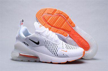Nike Air Max 270 Just Do It whiteblack total orange AH8050 106 Women's Men's Running Shoes