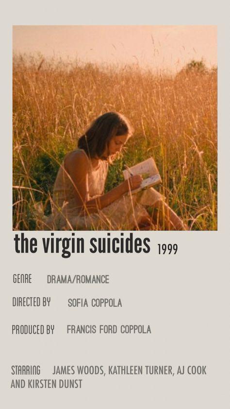 the virgin suicides vintage movie poster