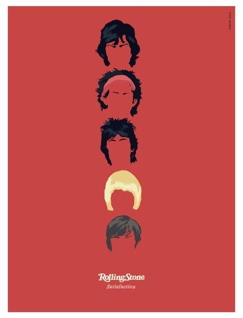 Famous Band - Rolling Stone #illustrator #vectorgraphic #famousband #rollingstone #illustration #carachters