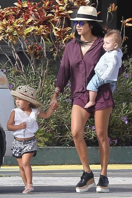 d8bc225a510 Kourtney Kardashian wearing Stella McCartney Paul Platform Oxford Shoes