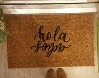 Hola Adios Two Way Welcome Mat Spanish Hello Goodbye Reversible Ciao Bilingual Welcome Mat Doormat Funny Door Mat Welcome Mats Unique Items Products