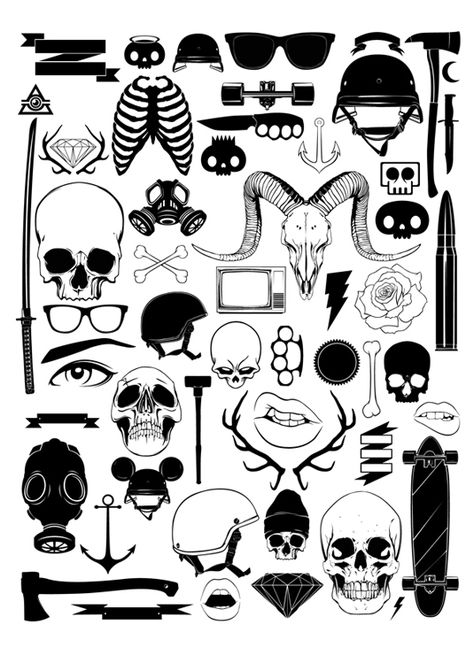 FREE vector pack from Gaks Design to obtain at present - Flash Art Tattoos, Body Art Tattoos, Sleeve Tattoos, Finger Tattoos, Kritzelei Tattoo, Doodle Tattoo, Tattoo Quotes, Mini Tattoos, Small Tattoos