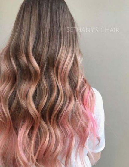 Super Hair Pink Brunette Dark Brown Ideas Pink Blonde Hair
