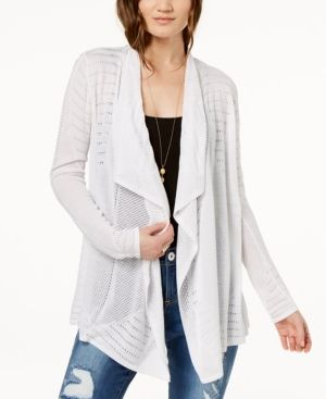 I.n.c. Draped Perforated Cardigan, Created for Macy's