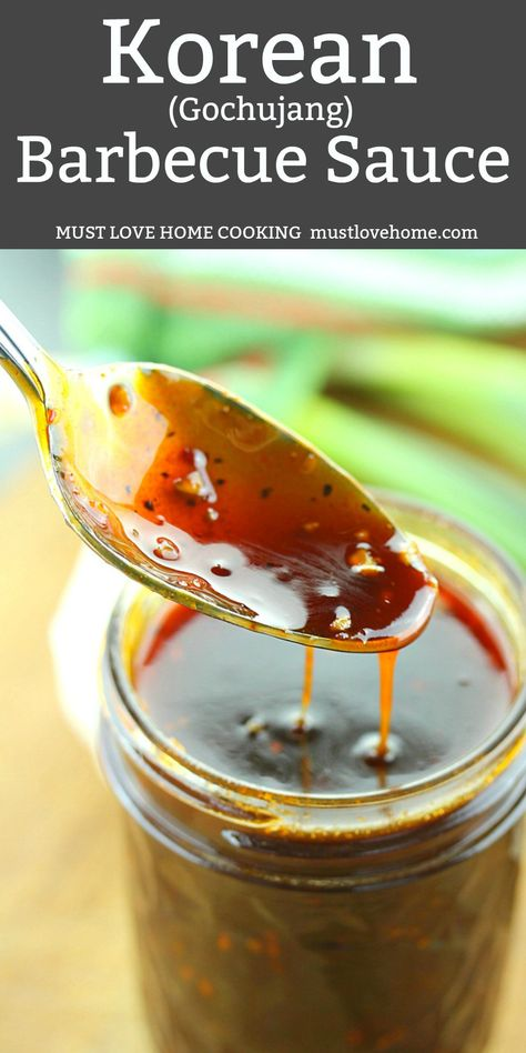 Korean Barbecue Sauce Recipe is a flavor game changer. Spiced with Gochujang, th. Korean Barbecue Sauce Recipe, Honey Barbecue Sauce, Barbecue Chicken, Barbecue Recipes, Vegetarian Barbecue, Grilling Recipes, Korean Bbq Marinade, Asian Bbq Sauce, Korean Bbq Chicken