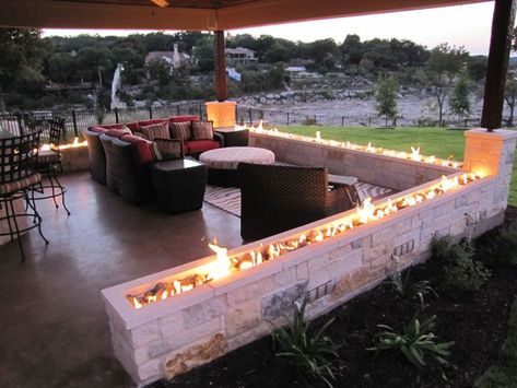 Backyard fire features - large and beautiful photos. Photo to select Backyard fire features