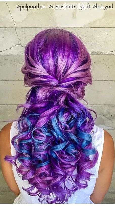 Beautiful Hair Color Ideas For Girl Colorful Hairstyles Trends 2018 2019 Underlights Hair Beautiful Hair Dye Hair Dye Colors