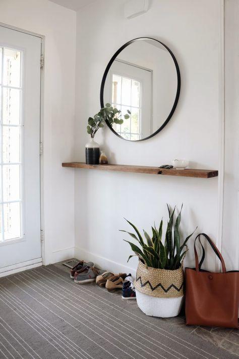 Bloom & cie - Vestibule minimaliste + DIY tablette flottante ...