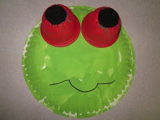 Paper Plate Red-Eyed Tree Frog Craft