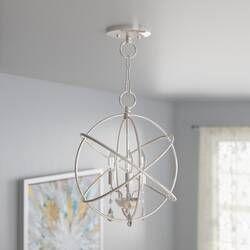 Auberta 3 Light Unique Statement Globe Chandelier