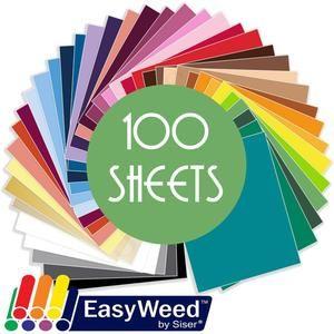 Siser Easyweed Heat Transfer Vinyl Htv 100 Sheets Build A Bundle 12 X 15 Siser Easyweed Easyweed Siser