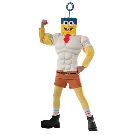 Boy's Deluxe Muscle Chest SpongeBob Costume