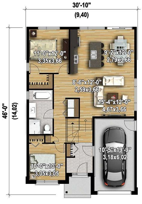Plan 80794pm Compact Contemporary House Plan In 2020 Contemporary House Plans Small House Plans House Plans
