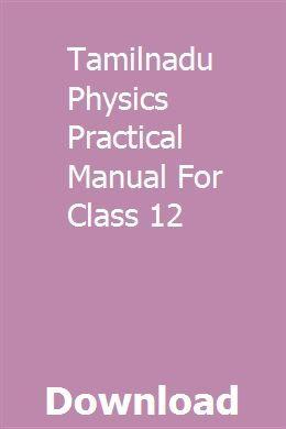 Tamilnadu Physics Practical Manual For Class 12   tempthinkgastprot