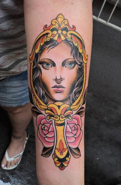 Colorful Hand Tattoo