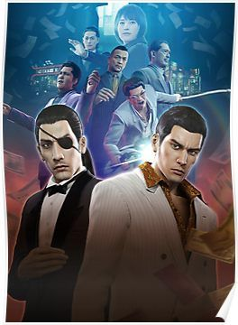 Yakuza 0 Poster Poster By Assassinhedgie Poster Video Game Posters Kiryu