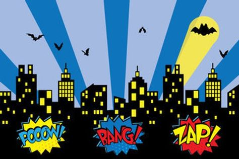 Superhero Backdrop Superhero Party Super Hero Props Superhero