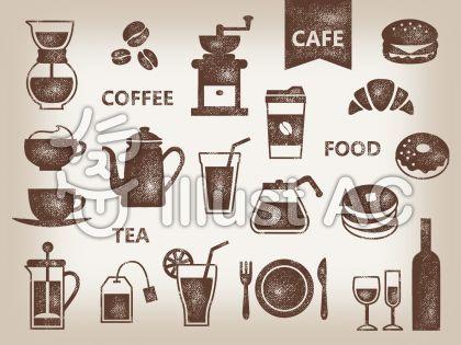 カフェ スタンプ001イラスト No 1091989 無料イラストなら イラストac 2020 お店 イラスト コーヒーのイラスト カフェ