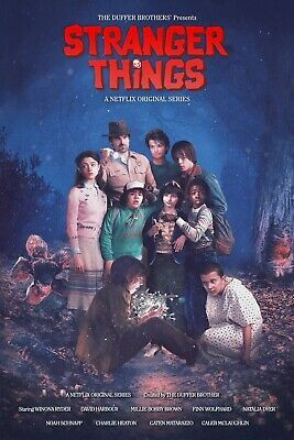 Details about Stranger Things Poster (Exclusive Art) All Characters - NEW - 11x17 13x19