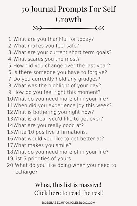 These 50 journal prompts are great for beginners as well as those of you who journal on the regular. Journaling is a great way to reduce stress, discover things about you which you didn't know you were capable of, and it also helps wind you down after a long day. Journaling | Journal prompts | Journal ideas | Journal inspiration | Journal ideas creative | Writing prompts | Writing inspiration