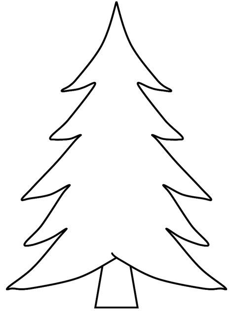 Pine Trees Coloring Pages Christmas Tree Coloring Page