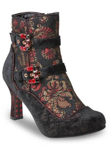 Joe Browns Couture Victoria 40 S Stiefel Schwarz Boots Velvet Boots Vintage Style Shoes