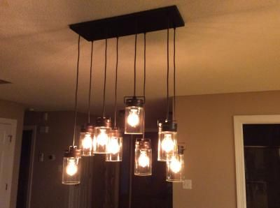 Shop allen + roth Vallymede 7.7-in H Bronze Multi-Pendant Light with Clear Glass Shade at Lowes.com