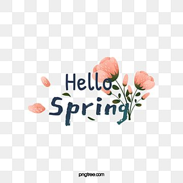 Hello Spring Hand Drawn Pink Flowers Font Hello Spring Typeface Png Transparent Clipart Image And Psd File For Free Download Flower Background Wallpaper Pink Flowers Background Flower Graphic Design