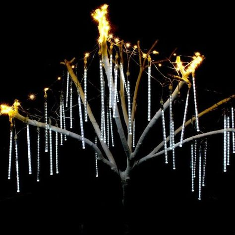 omgai meteor shower rain lights or snowfall led christmas lights