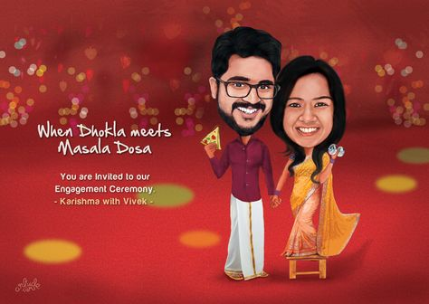 Caricature for Engagement Ceremony