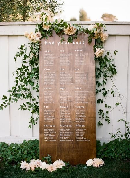 This Bride Had The Perfect Pinterest Board To Bring Her Wedding Day Ideas To Life Seating Chart Wedding Wedding Signage Wedding Seating