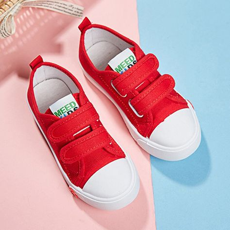 Unisex Kids Canvas Sneakers Casual Slip-on Shoes