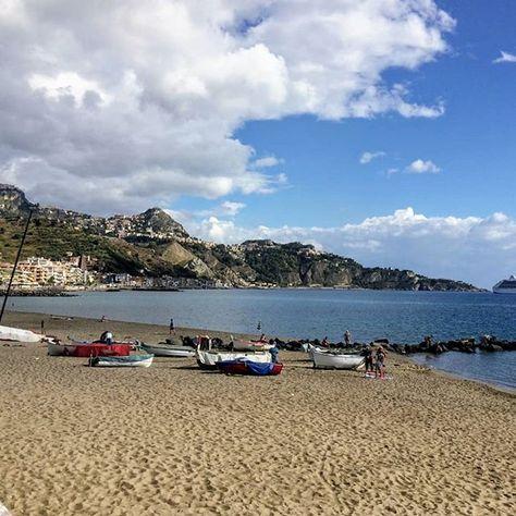 Lazy Cloudy Morning Giardininaxos Sicily Sicily Mood Beach