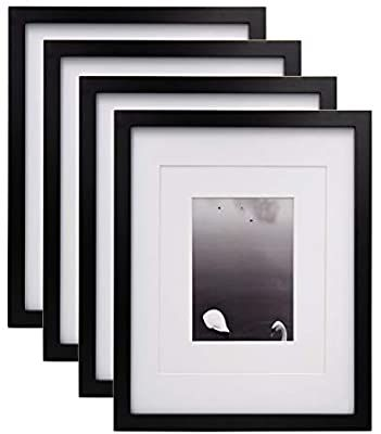 Amazon Com Egofine 11x14 Picture Frames 4 Pcs Black Made Of Solid Wood For Table Top And Wall Mounting For Picture In 2020 11x14 Picture Frame Frame Photo Displays