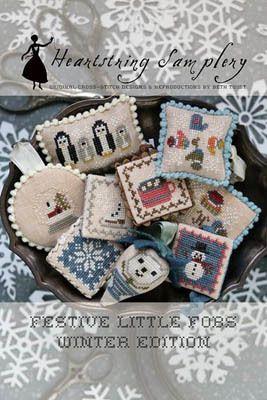 Coffee Edition Festive Little Fobs Cross Stitch Pattern