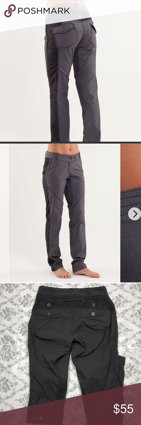 Lululemon ride on pant sz 4 x 32 dark gray Pre loved good condition, has a very faint barely visible spot on front leg lululemon athletica Pants