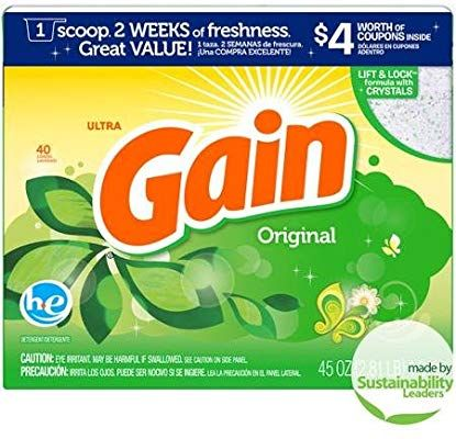 Amazon Com Gain Ultra Original He Laundry Detergent Powder 45