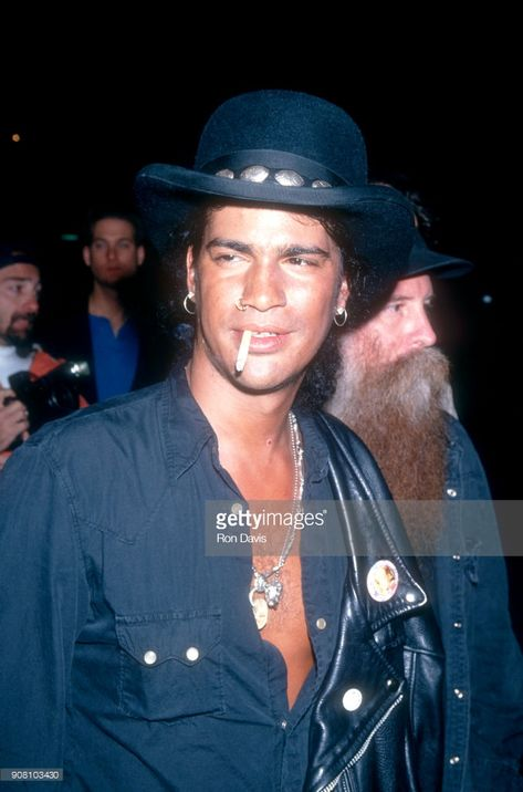 Slash poses for a portrait before attending the Rolling Stones Concert/Party circa 1994 in Los Angeles, California.