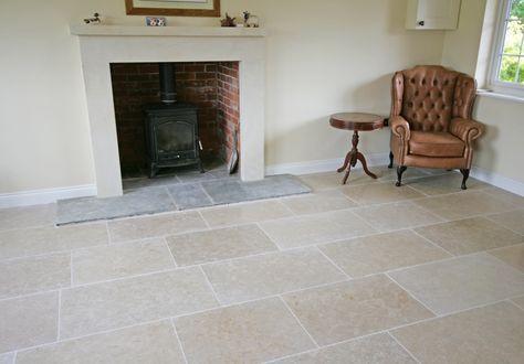 Dijon Limestone Flooring: Tumbled Dijon Farmhouse Flagstones ...