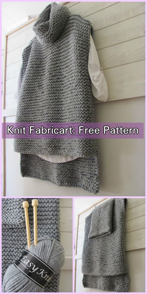 151054da Easy Knit Women Sweater Vest Free Knitting Pattern | Knitting ...
