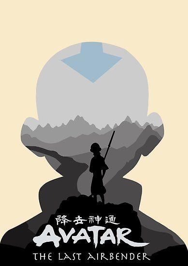 Avatar The Last Airbender Aang Poster By Ninjaatticus Avatar Poster Avatar Airbender Avatar Legend Of Aang