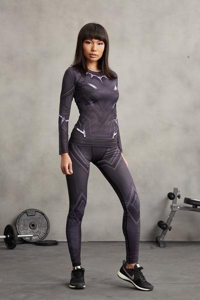 Choke Bjj Gear Black Panther Women Bjj Set Womens Leggings Pattern Bjj Women Rashguard Black
