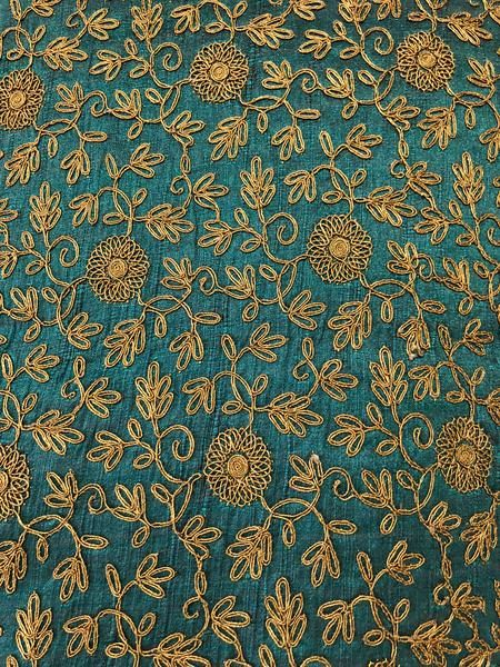Mirror Embroidery Georgette dress making craft clothing drapery fabric-by-yard